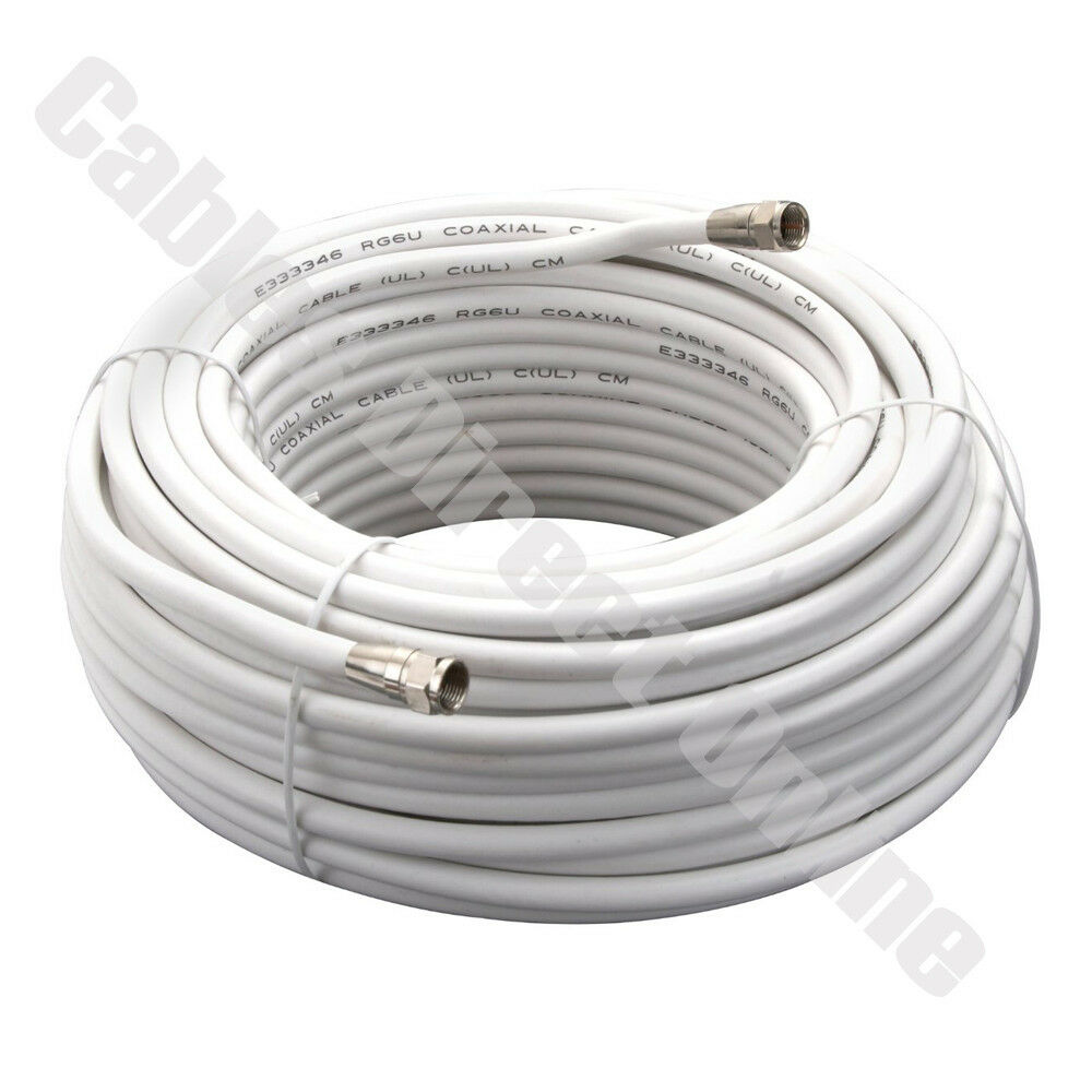 medium resolution of 25ft 50ft 100ft white coaxial cable coax hd satellite dish tv satellite dish wiring diagram details