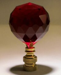 LAMP FINIAL-STUNNING LEADED CRYSTAL LAMP FINIAL-RED | eBay