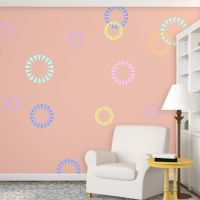 Wall Stencils Circle Shape Firecracker Stencil for Modern ...