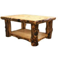 Log Coffee Table - Country Western Rustic Cabin Wood Table ...