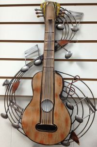 GUITAR & MUSIC NOTES DECORATIVE METAL WALL ART | eBay