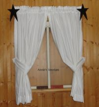 Country Primitive Muslin Curtains Tiers Cafes White, Off ...