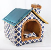 New Indoor ALL Blue Chimney Pet Dog Cat House Beds Kennel ...