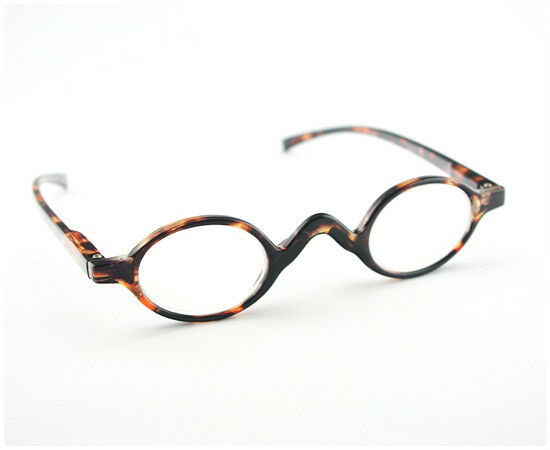 Classic Small ROUND OVAL Design Reading Glasses Tortoise