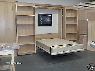 Murphy Library Bed Queen Size Cabinet Construction Plans