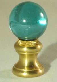 LAMP FINIAL-GLASS ORB LAMP FINIAL-TEAL | eBay