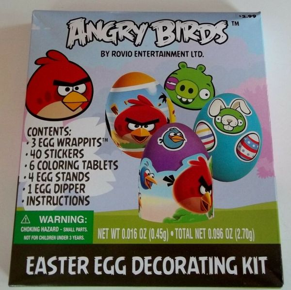 Angry Birds - Rovio Dudley Easter Egg Decorating Kit Party Supplies Bnip