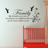 Family Inspirational Wall Art - Wall Quote Sticker - Art ...