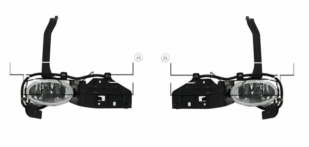 For 2008-2010 Honda Accord Sedan V6 Fog Light Lamp PAIR