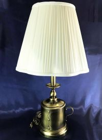Vintage Antique Brass Colonial Oil Can Style Candle Stick ...