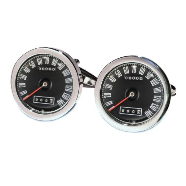 Muscle Car Speedo Cufflinks Boxed Vintage Retro Mustang Style Speed Dial Bn