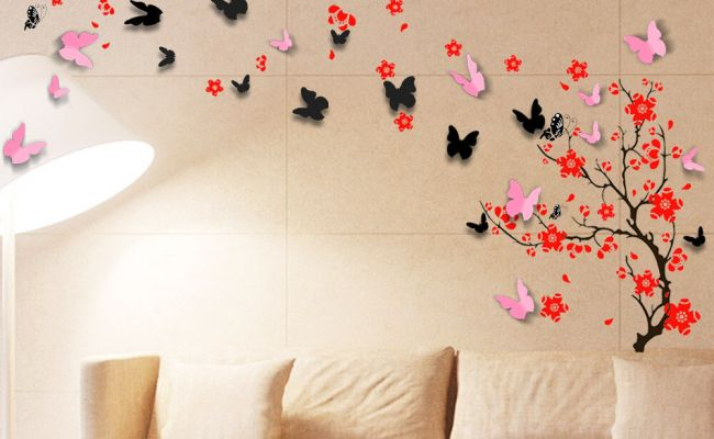 Wall Sticker Mural Decal Paper Art Decoration Blossom