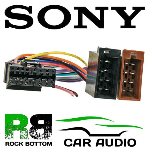 small resolution of sony mdx series car radio stereo 16 pin wiring harness loom iso lead ct21so01 ebay