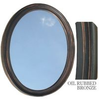 Bathroom Mirror Vanity Oval Framed Wall Mirror, Oil Rubbed ...