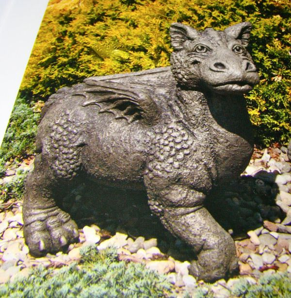 Concrete Cement Dragon Beautiful Garden Statue Art 105