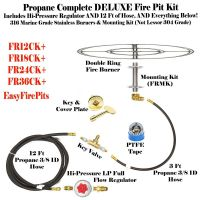FR24CK+ 316 Stainless 24 Fire Ring Complete Deluxe Wood ...