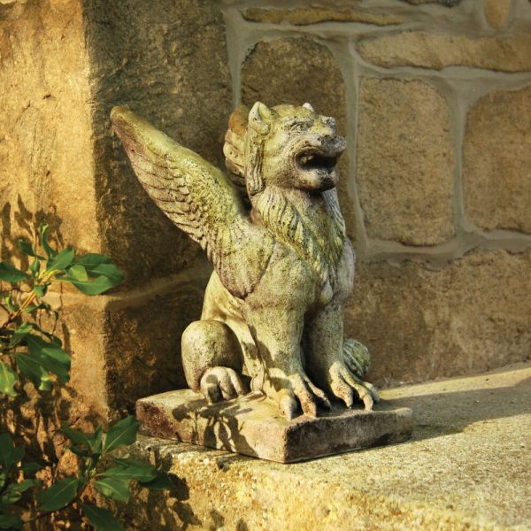 Winged Lion Griffin Outdoor Garden Statue -orlandi