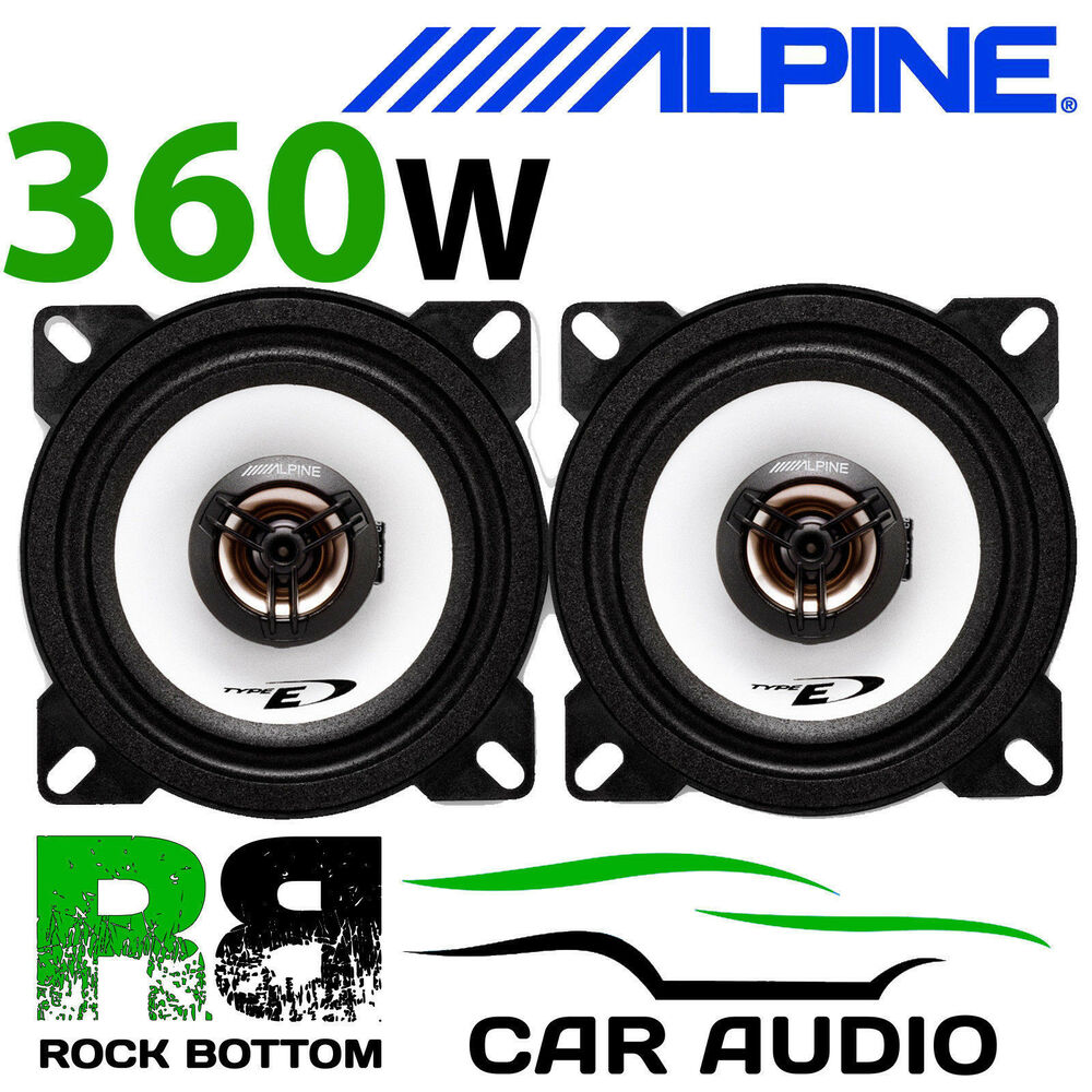 hight resolution of details about alpine honda civic crx 95 99 4 10cm 2 way 360w car coaxial front door speakers