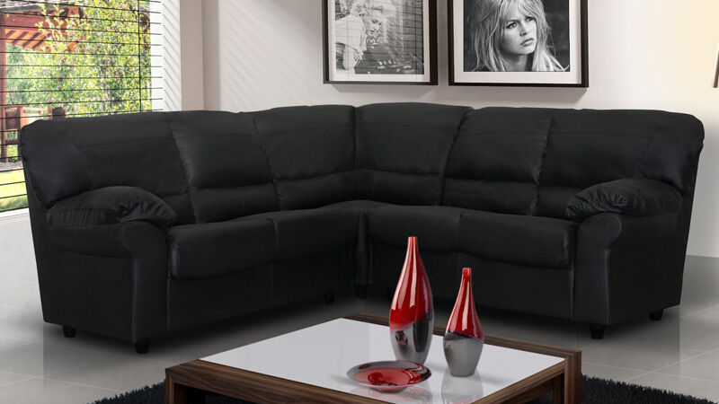 valencia black recliner leather sofa orange and brown new candy corner faux suite in cream ...