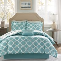 BEAUTIFUL MODERN REVERSIBLE TEAL BLUE AQUA BED IN A BAG