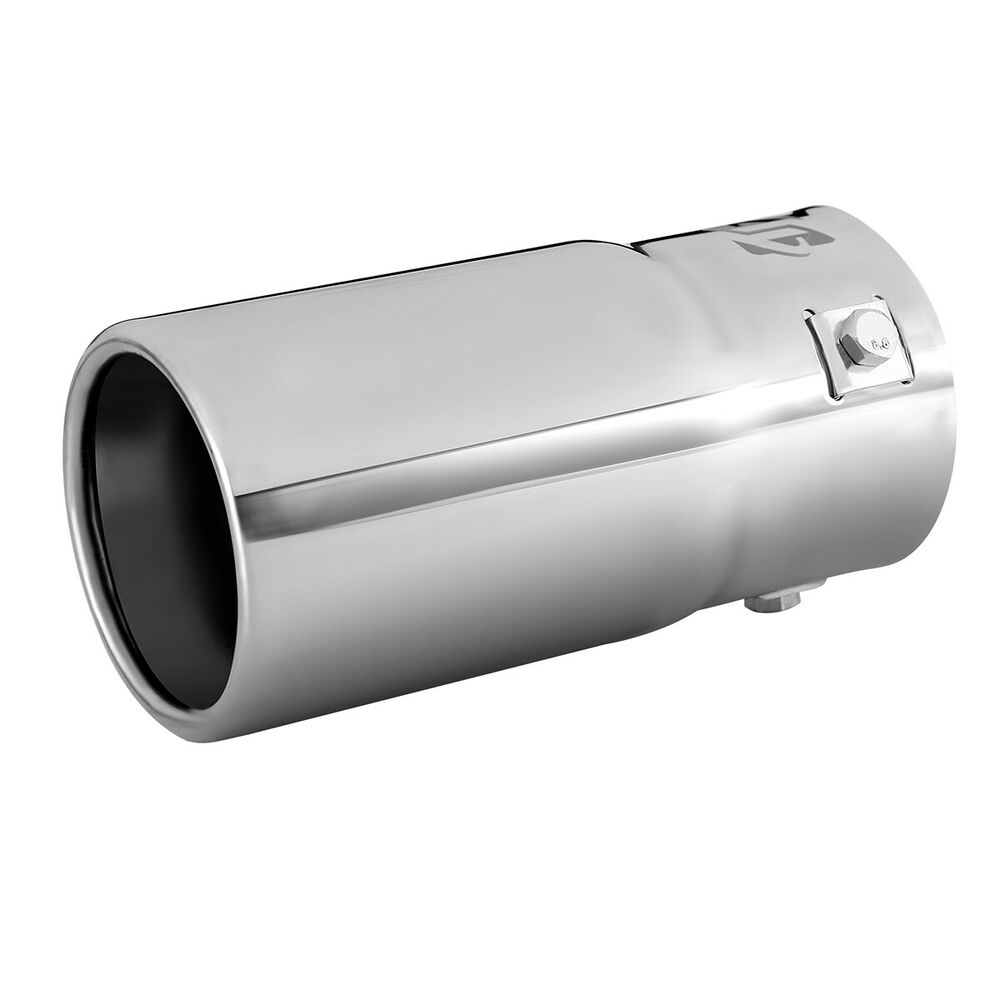 Car EXHAUST Tail Muffler Tip Pipe Chrome Round Fit pipe