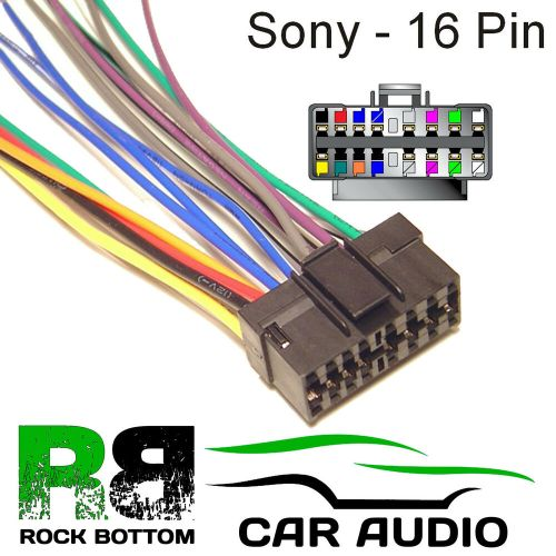 small resolution of sony mex series car radio stereo 16 pin wiring harness loom bare wire lead ebay