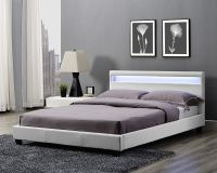 Double King Size Bed Frame LED Headboard Night Light and ...
