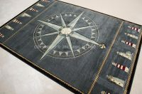Nautical Lighthouse Tropical Compass Carved Blue Black ...