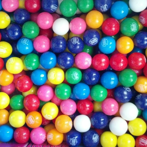 "Dubble Bubble Assorted 1 2"" Gumballs 3 Lbs 600 Count"