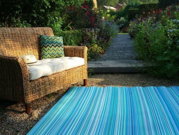 outdoor patio rug Indoor Outdoor Rug Turquoise Moss Green Recycled Plastic Room Home Mat Patio blu | eBay