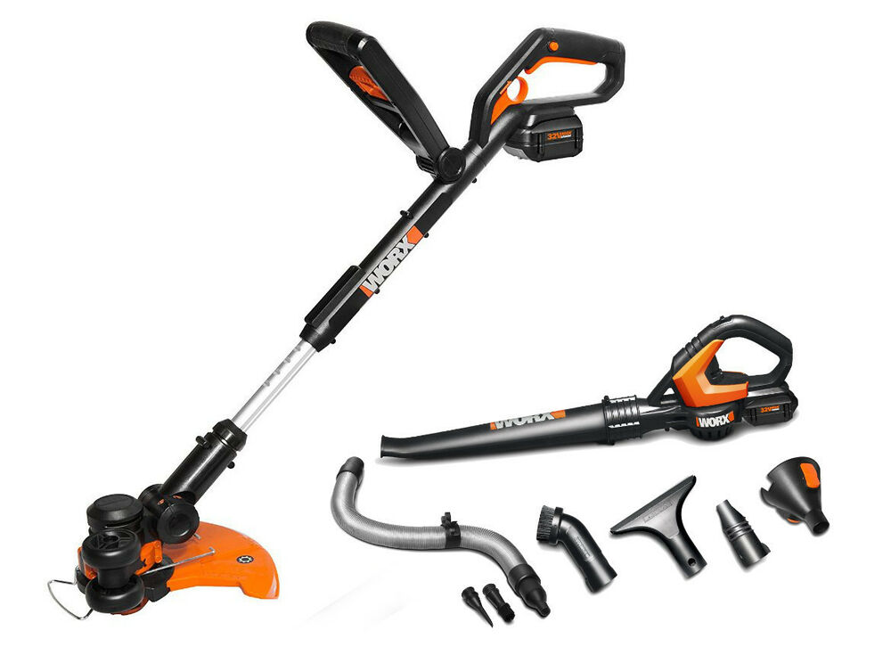 WG924 WORX 32V MaxLithium Combo: 3-in-1 Grass Trimmer