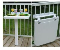 plastic folding balcony table, color Sand | eBay