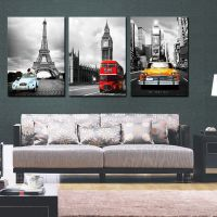 NYC Paris London easy hang picture/mounted canvas wall art ...