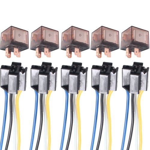 small resolution of details about 5 x car truck auto 12v 80a 80 amp spst relay relays 4 pin 4p socket 4 wire