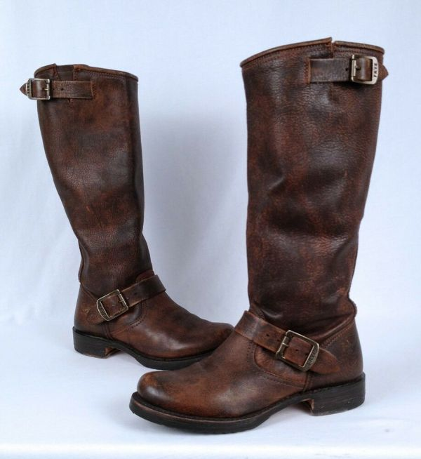 Frye 'veronica Slouch' Boot- Dark Brown- Size 6.5 B15