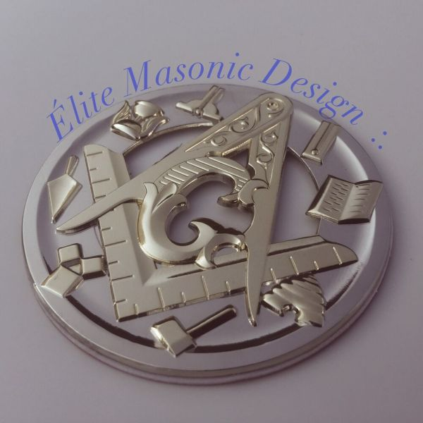 Auto Emblem Master Square Cut Masonic - Year of Clean Water