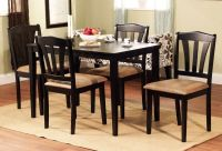 5 Piece Dining Set Wood Breakfast Furniture 4 Chairs and ...