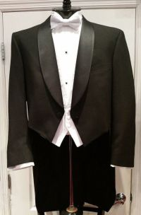 "Men's Ballroom Wool Black ""White Tie"" Full Dress Tailcoat ..."