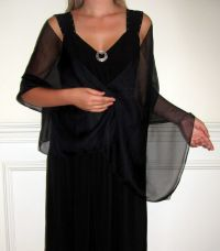 Black Long Chiffon Bridal Funeral Formal Shawl Wrap Scarf ...