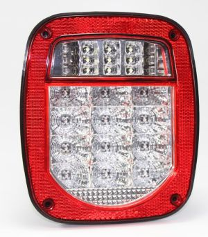 Bright Red Jeep TJ CJ YJ JK Replacement Tail Light without