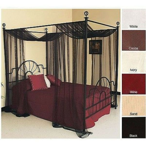 Sheer Netting Panel for Canopy Bed