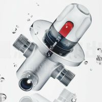 Thermostatic Mixing Valve for Shower Mixer with Diverter ...
