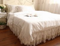 Victorian Style White Wide Crochet Lace Nice Cotton Duvet ...