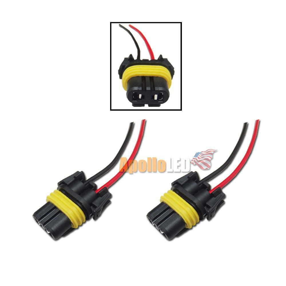hight resolution of details about 2x 9005 hb3 headlights fog light female adapter wiring harness nylon plug sk08