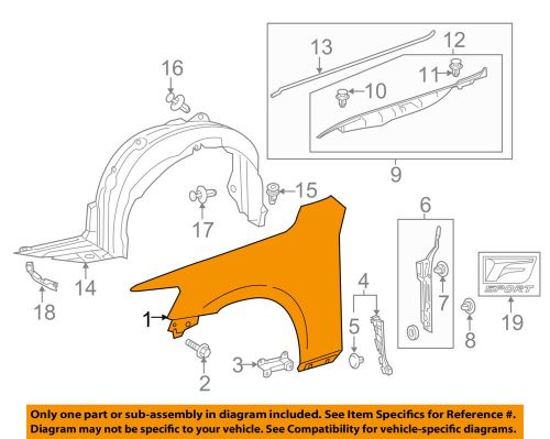 small resolution of details about lexus toyota oem 14 16 is350 front fender quarter panel left 5380253150