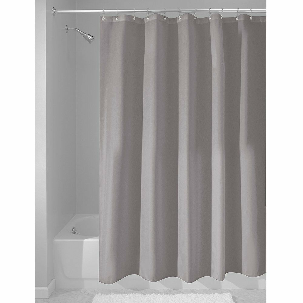 InterDesign Fabric Waterproof Shower Curtain Liner72 by 72 inches Gray New  eBay