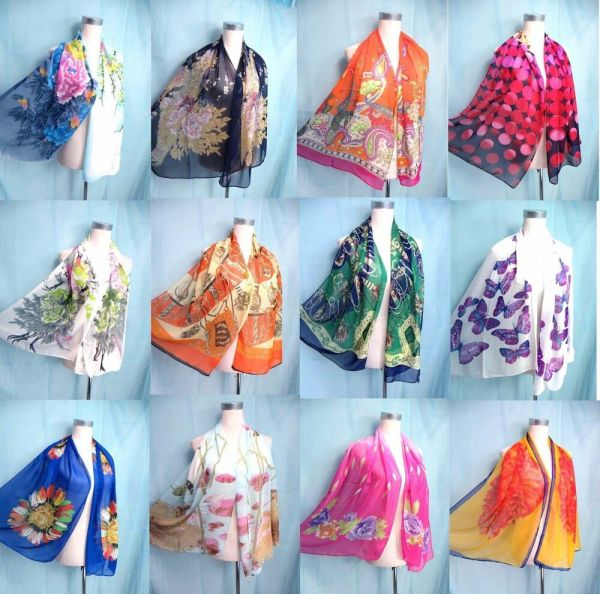 Seller 5pcs Lot Chiffon Scarf Women