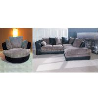 Dylan Corner Sofa Right Hand Plus Swivel Chair In Black ...