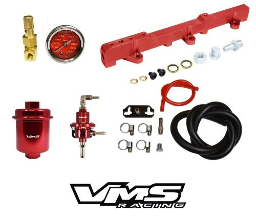 small resolution of details about vms racing fuel gauge rail regulator filter for 96 00 honda civic d16 red