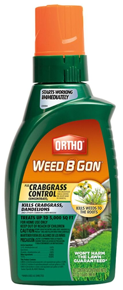 Ortho Weed B Gon MAX Weed Killer For Lawns Plus Crabgrass Control Concentrate 32 EBay